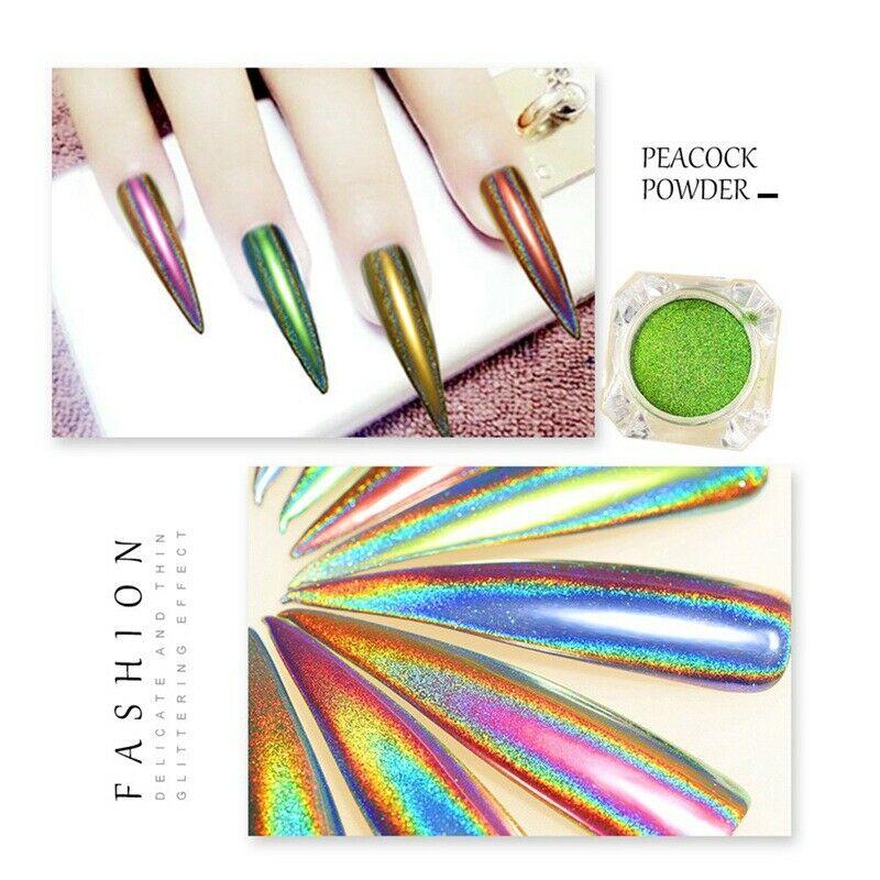 Paon Caméléon Miroir Ongle Poudre Poussière Manucure Glitters Diy Nouveau Né  Price : 1.91  Ends on :   Voir sur eBay   …