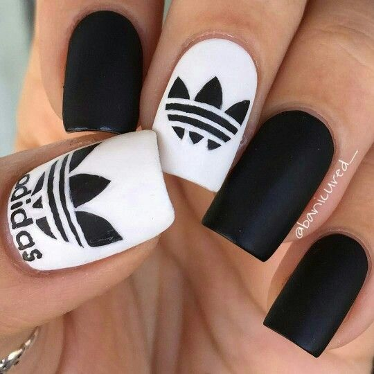 Addidas Nails by #banicured_ #instagram ,Adidas shoes #adidas #shoes twitter.com/… Source by desireepotts   …