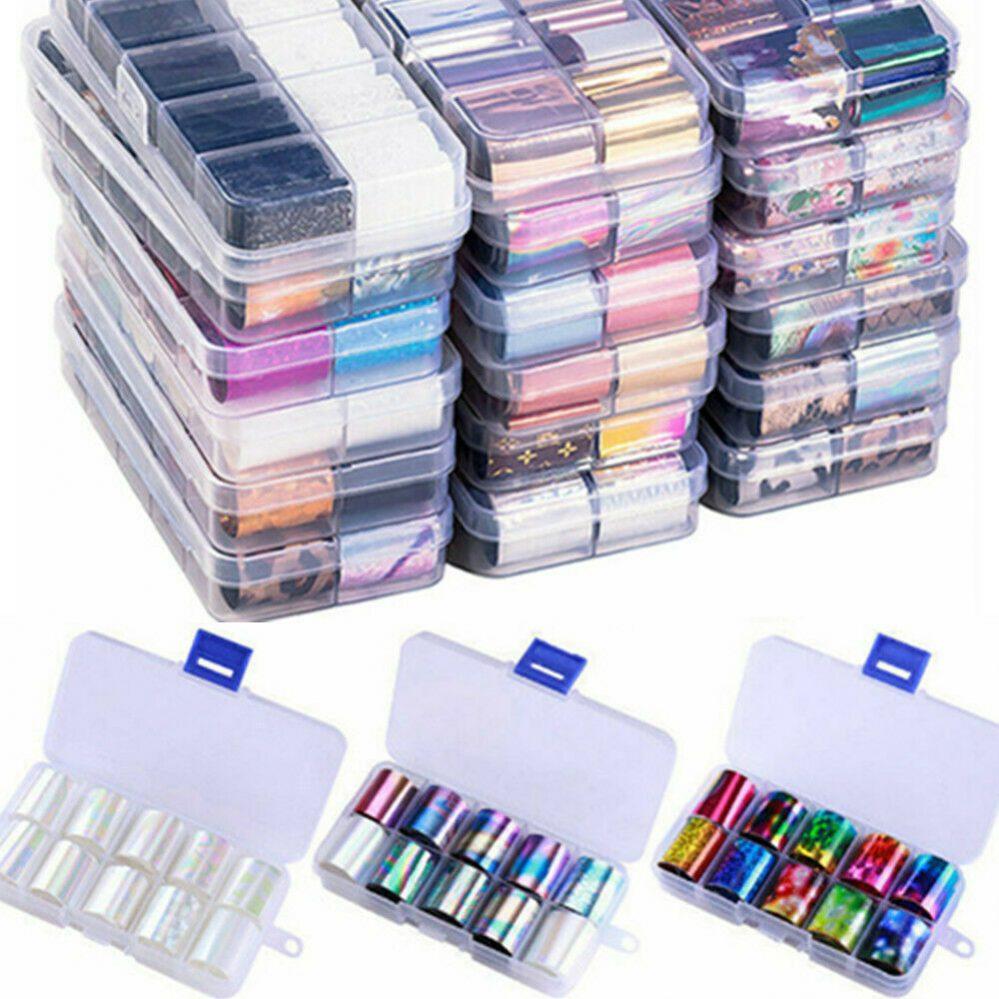 10 Feuilles Autocollants Décalcomanies à Ongles Nail Foils Decals avec Boîte  Price : 1.79  Ends on :   Voir sur eBay   …
