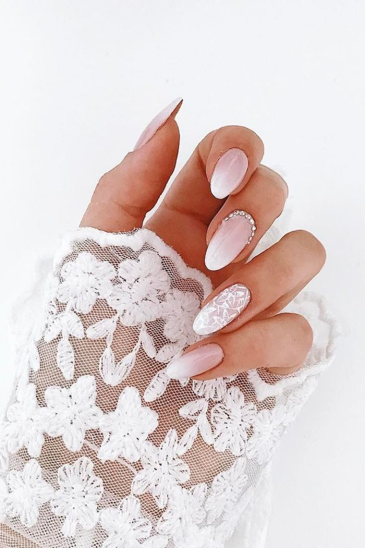 30 Fairy-Like Wedding Nails For Your Big Day Source by wildaboutbeautycom   …