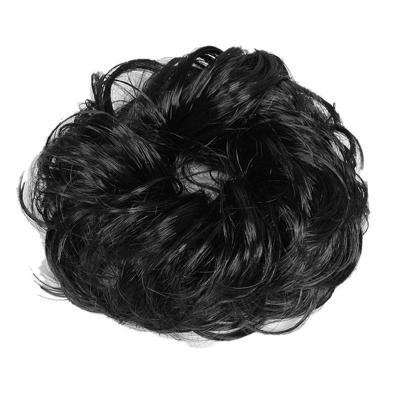 5X(Femmes Cheveux noirs Onde scrunchie Extensions Chignon Boucles Ponytail p M1)  Prix : 2.99  Termine le : 2019-07-10 15:08:42  Vu sur eBay  …