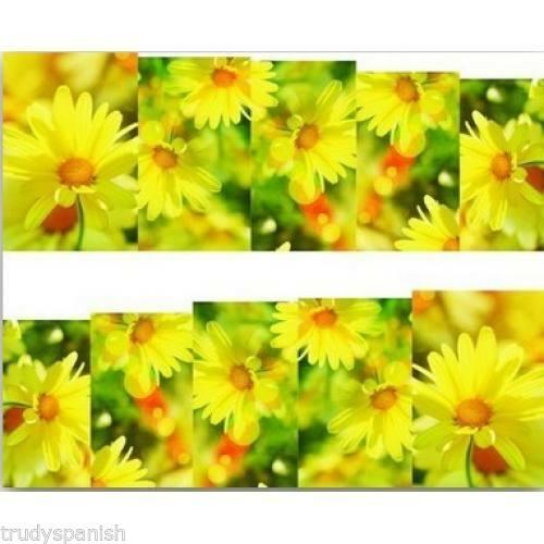 Art Pour Les Ongles Décalco À L'eau Emballages Printemps Été Jaune Flora  Price : 1.12  Ends on :   Voir sur eBay   …