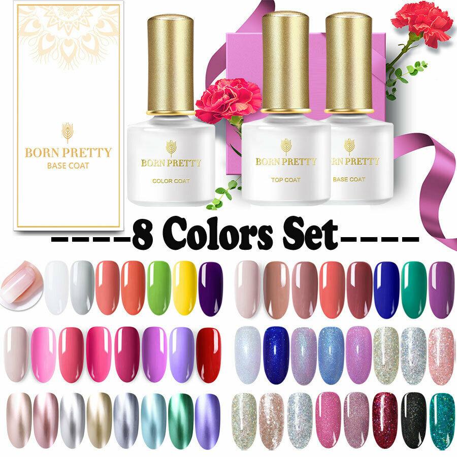 BORN PRETTY 8Pcs Ensemble de vernis à ongles en gel UV Nail Art Manicure  Price : 1.99  Ends on :   Voir sur eBay   …