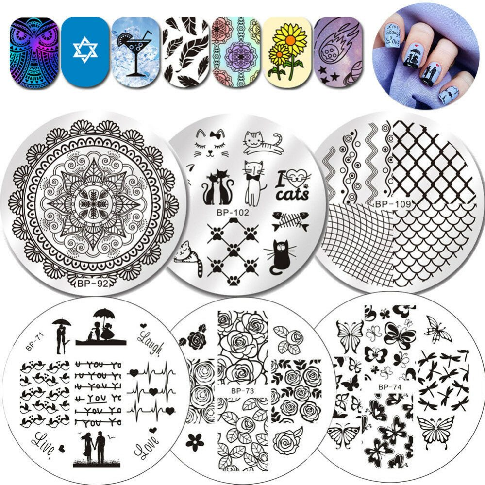 BORN PRETTY Nail Ongles Stamping Pochoir Plaque Modèle Plate Nail Art Manucure  Price : 1.00  Ends on :   Voir sur eBay   …