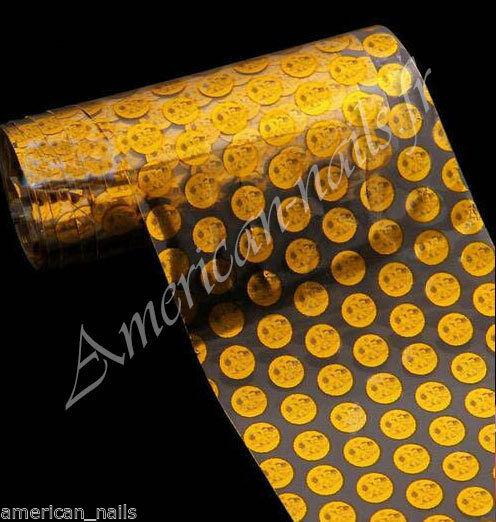 ROULEAU Foils Nail Art Foil ongle Ronds Or sur Transparent 4cmx100cm   Price : 1.39  Ends on :   Voir sur eBay   …