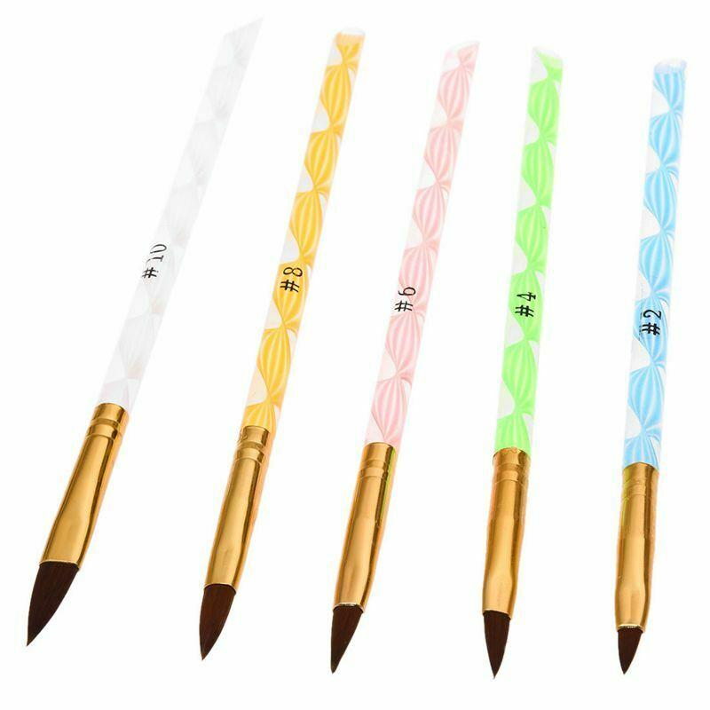 1X(Brosse a ongles colore de gel UV en acrylique No.2/4/6/8/10 5 pieces par G8P6  Price : 1.55  Ends on :   Voir sur eBay   …