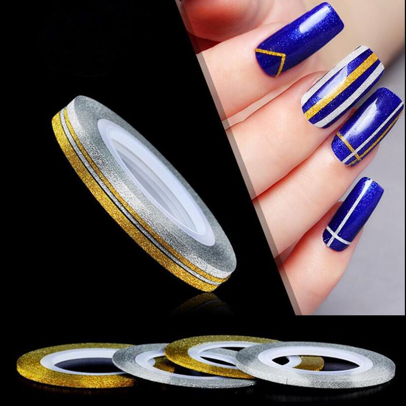 6pcs Nail Art 3D Tips Sticker Fil Bande Striping Tape Autocollant Manucure Ongle  Price : 1.26  Ends on :   Voir sur eBay   …