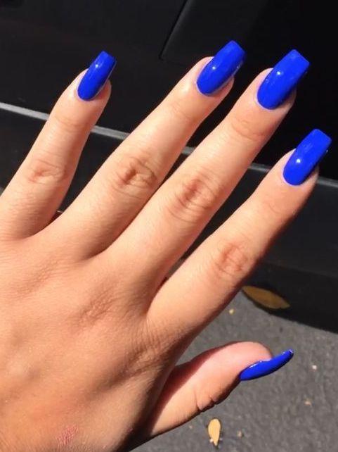 Attractive royal blue nail polish Source by leilavidall   …