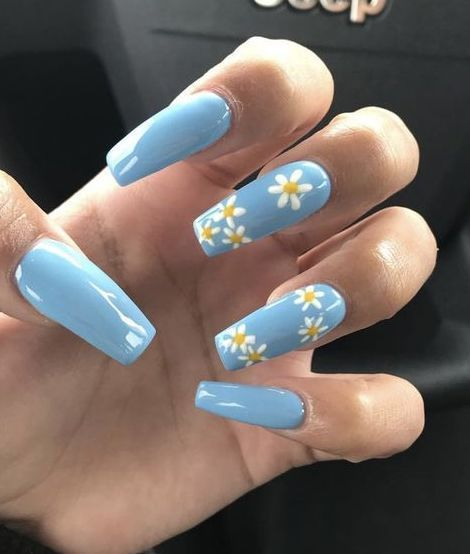 Enchanting nail art design for spring season with yellow flowers Source by JamiesBear   …