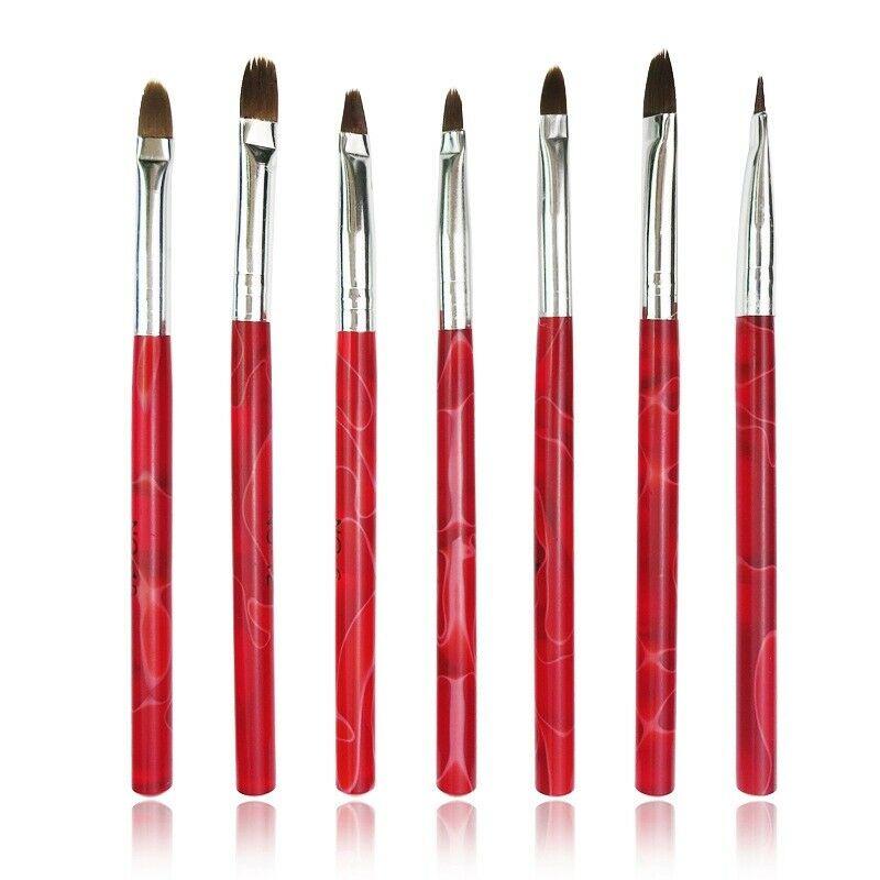 2X(Ensemble de 7 pieces pinceau a ongles rouge sous UV Decorations en gel pou BN  Price : 4.16  Ends on :   Voir sur eBay   …