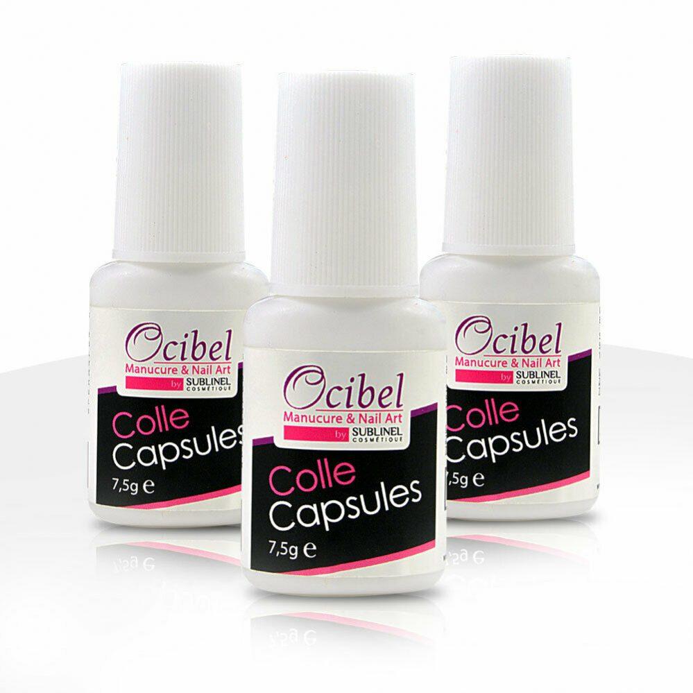 3 Colles capsules pour ongles avec pinceau 7,5 ml Manucure Faux Ongles Nail Art  Price : 7.37  Ends on :   Voir sur eBay   …