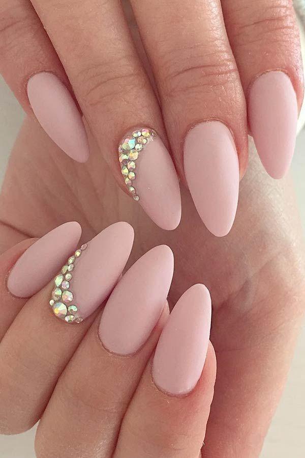 Pretty and Elegant Matte Nail Art Design #mattenails Source by LaviniaIgnis   …