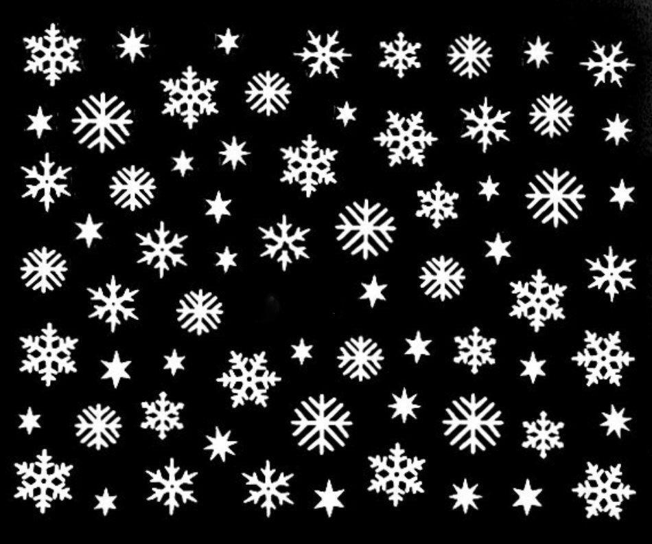 Accessoire ongles : nail art , Stickers noël : flocons de neige blancs  Price : 3.99  Ends on :   Voir sur eBay   …