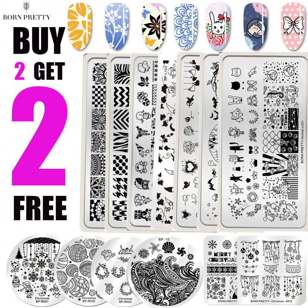 BORN PRETTY Nail Art Stamping Plates Plaque Ongle Pochoir Template Flower Leaf  Price : 1.00  Ends on :   Voir sur eBay   …