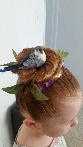 Crazy hair day bird nest                                   …