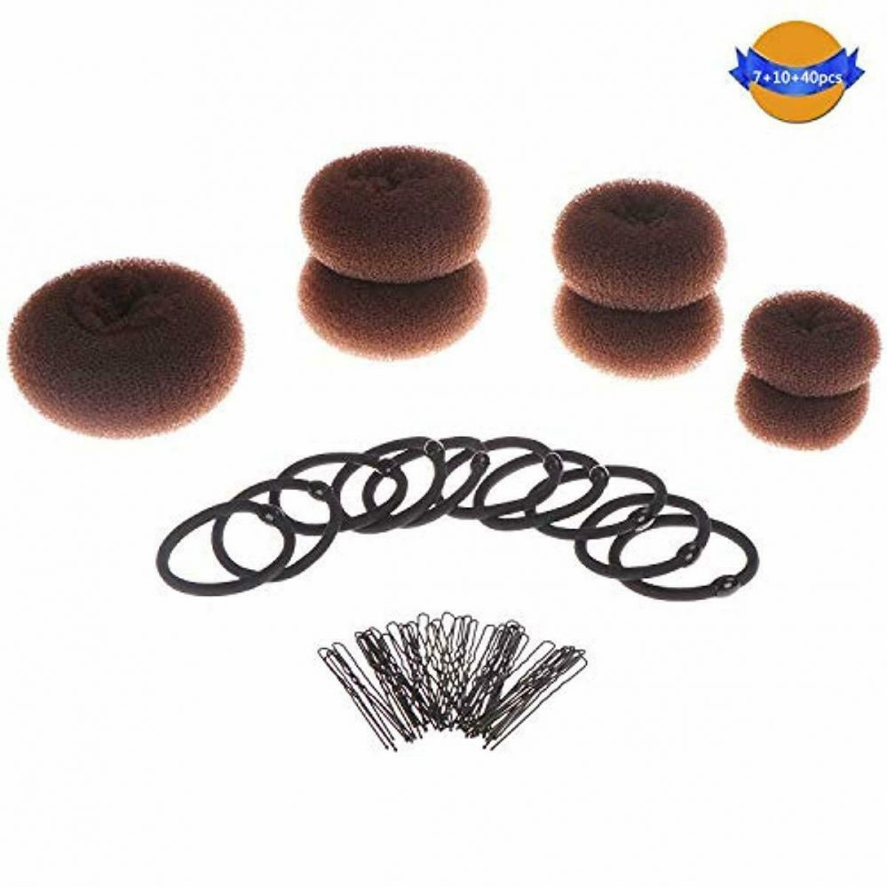 "LOCOLO 7 Piece Hair Bun ""Donut"" Brown(1 Extra-large+2 Large+2 Medium + 2 Small)   Prix : 16.98  Termine le : 2019-10-02 00:56:53  Vu sur eBay  …"