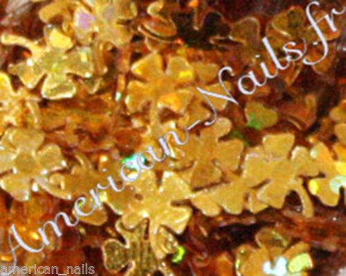 Bijoux décoration ongles Nail Art Paillettes Trèfles a 4 feuille Or HOLO Doré  Price : 1.49  Ends on :   Voir sur eBay   …