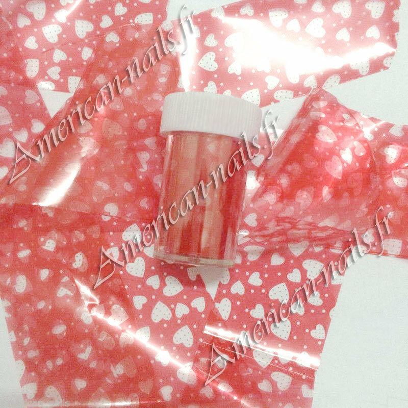 ROULEAU Foils Nail Art Foil ongle Rouge Coeurs Transparents 4 cm x 100 cm   Price : 1.99  Ends on :   Voir sur eBay   …