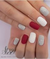 42 Beautiful Sweater Nail Designs Perfect For Christmas Source by xxdaffiexx   …