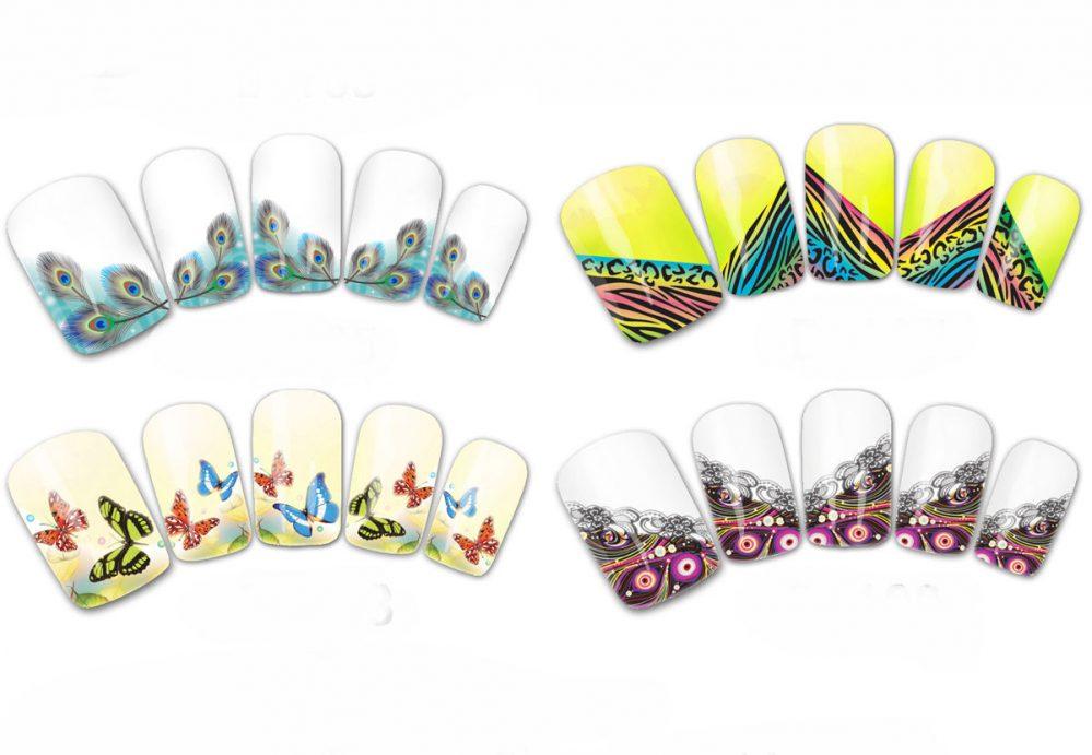 Art Ongles French Manucure Embouts Transfert de L'Eau Décalques Papillon Plume  Price : 1.11  Ends on :   Voir sur eBay   …