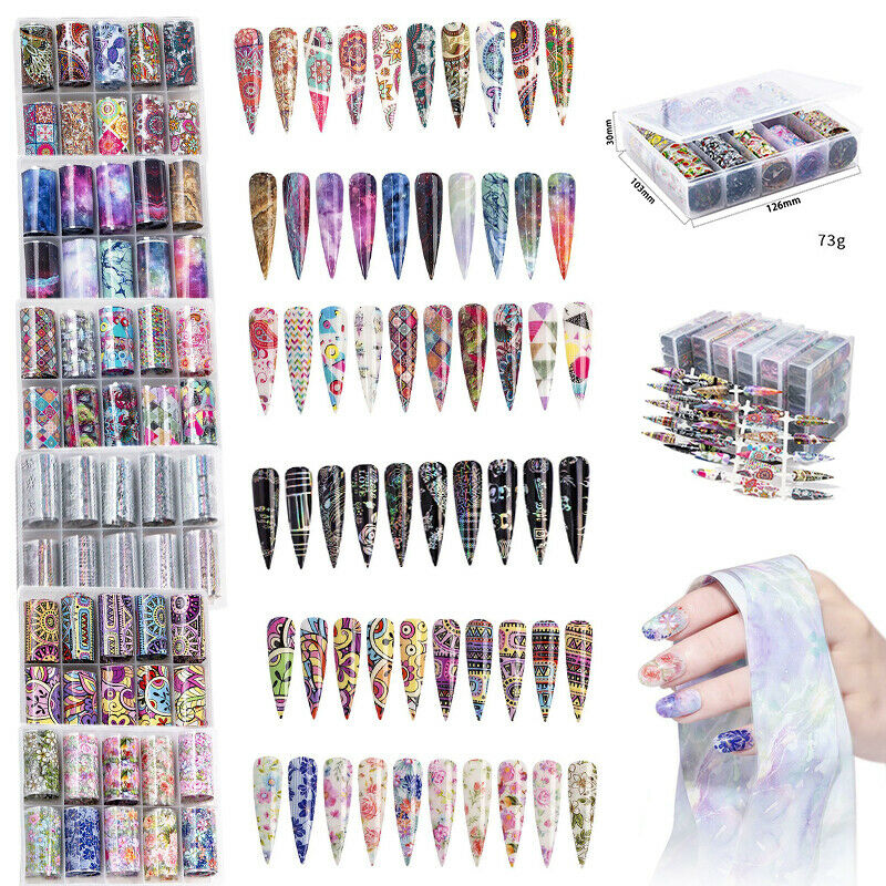 10Pcs Holographic Nail Stickers Foil Starry Sky Decal Autocollants Ongle Sticker  Price : 2.28  Ends on :   Voir sur eBay   …
