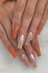 Trendy Matte Nail Design for Coffin Nails Source by christelblikman   …
