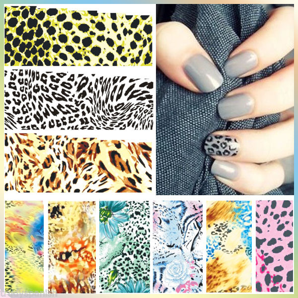 art ongles décalco à l'eau emballages Imprimé Animal Léopard peau de serpent UV  Price : 1.12  Ends on :   Voir sur eBay   …
