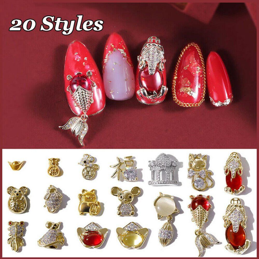 rouge Style chinois Jolie souris. Vernis 3D Vernis à ongles Art decoration  Price : 1.10  Ends on :   Voir sur eBay   …