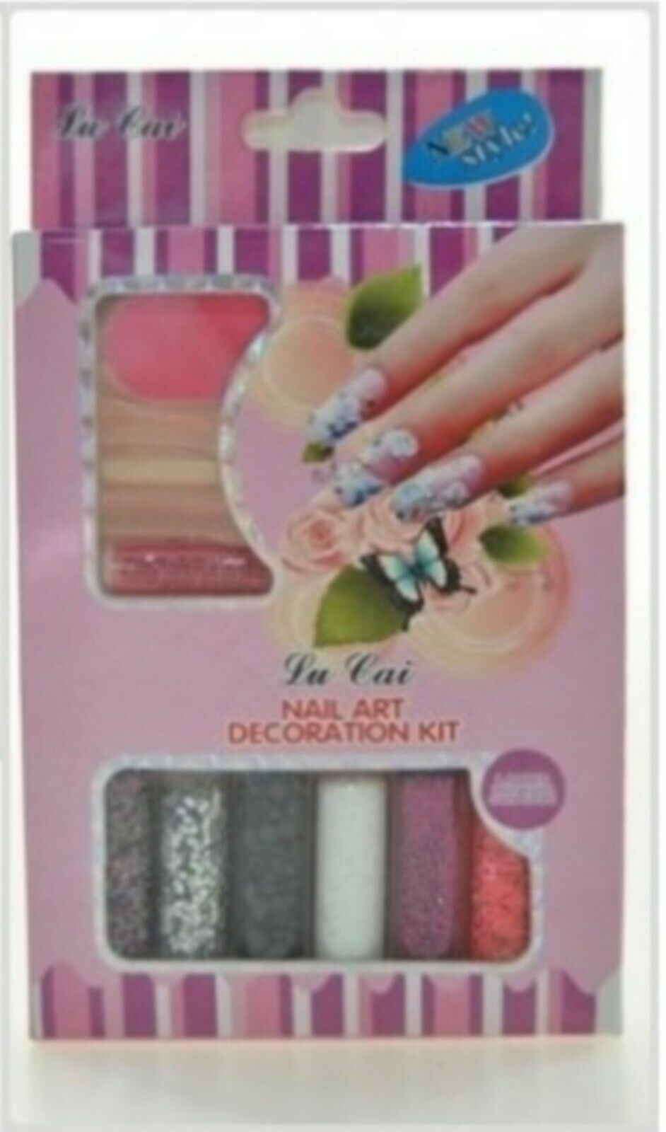 KIT DECORATION ONGLES NAIL ART STRASS ET PAILLETTES Lu Cai