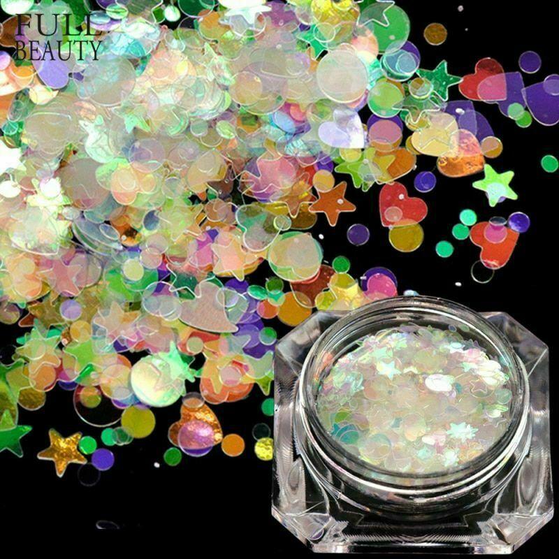 Paillettes à ongles flocons paillettes Art décoration miroir irisé poudre…  Price : 1.95  Ends on :   Voir sur eBay   …
