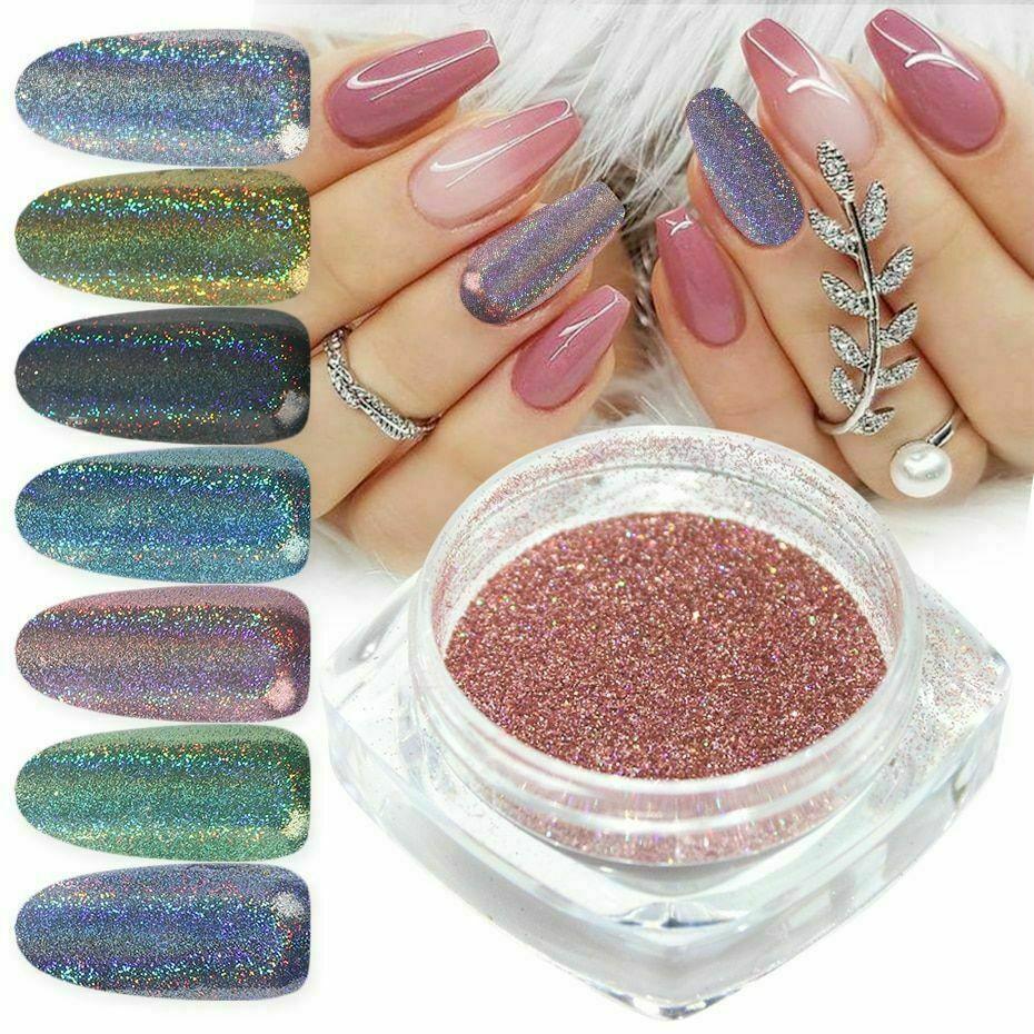 Poudre à ongles Glitter Art Miroir Holographique Laser Nail Chrome…  Price : 1.95  Ends on :   Voir sur eBay   …