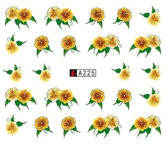 Stickers Ongles Water Décal Nail Art Fleur Couleurs A-225 – Neuf  Price : 1.70  Ends on :   Voir sur eBay   …